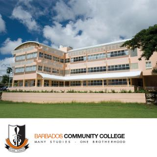 Photo of the BCC logo and campus building