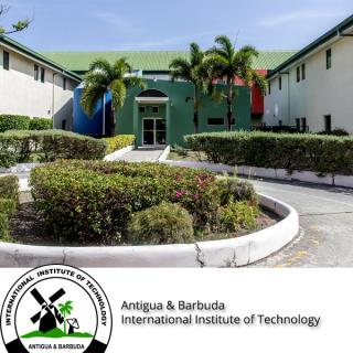Logo of ABIIT and photo of campus building
