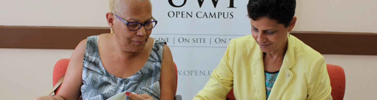 MOU signing between UWI Open Campus and OAS