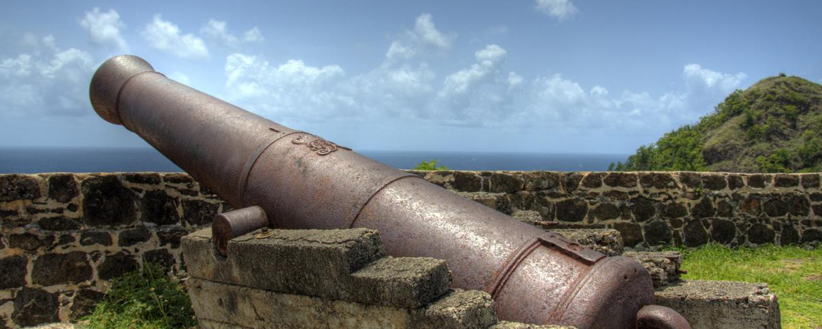 Photo of an 18th century cannon