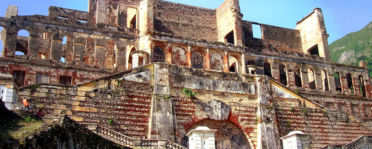 Photo of the Sans-Souci Palace ruins