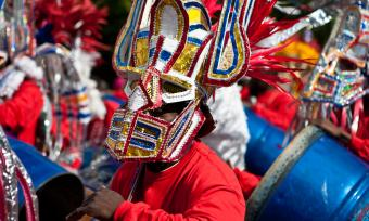 Photo of Junkanoo drummers in the Bahamas
