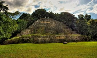 Photo of Lamanai archaeological site in Belize