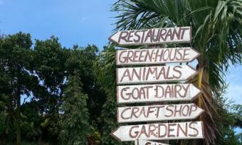 direction signs at Belmont Estate, Grenada