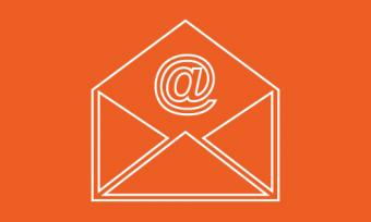 icon of envelope with @ symbol