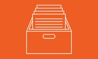 icon of file drawer filled with documents