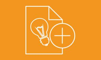 submit opportunity icon with lightbulb and plus sign