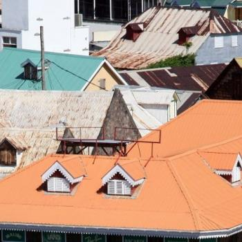 Photo of various roofs in Roseau