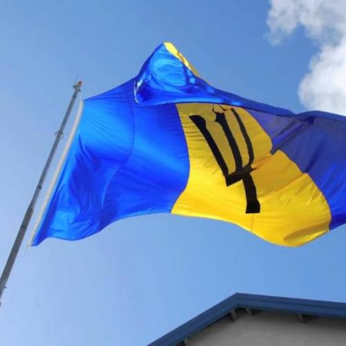 Photo of the flag of Barbados