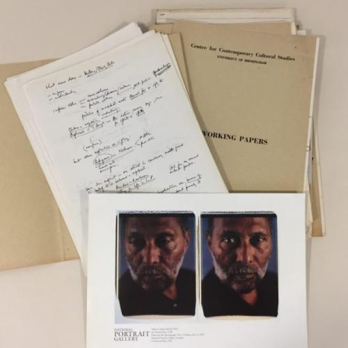 Portrait of Stuart Hall and his works