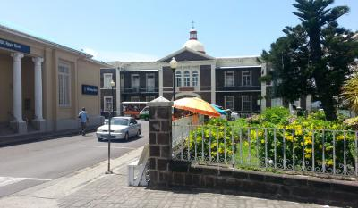 The Old Treasury Building in Basseterre, headquarters of the SCNT