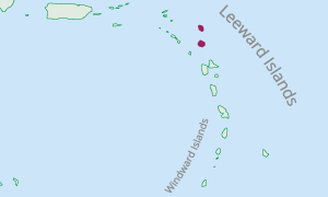 Location of Antigua and Barbuda in the Eastern Caribbean