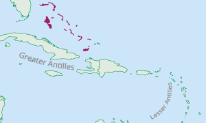 Location of the Bahamas in the Caribbean