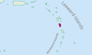 Location of Dominica in the Eastern Caribbean