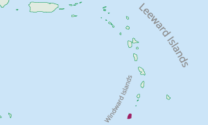 Location of Grenada in the Eastern Caribbean