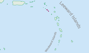 Location of St. Kitts and Nevis in the Eastern Caribbean