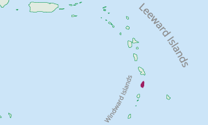 Location of St. Lucia in the Eastern Caribbean